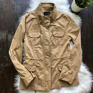 LOVE TREE Khaki Beige Coat Utility Jacket SMALL